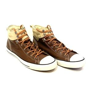 CONVERSE All Star Leather/Suede Mid Top Sneaker
